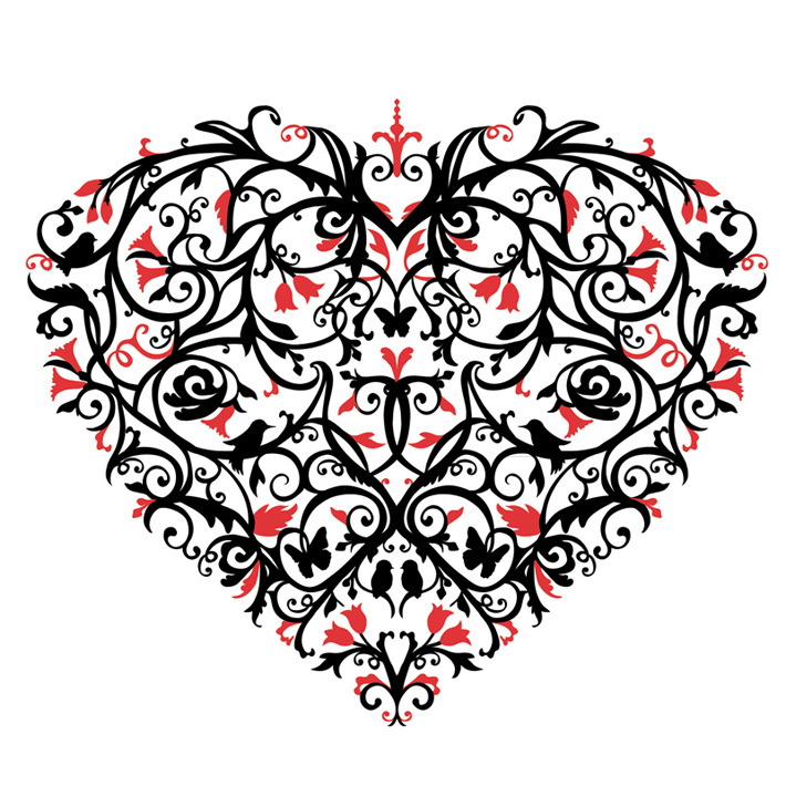 Decorative Valentines Heart Laura Barrett Illustration